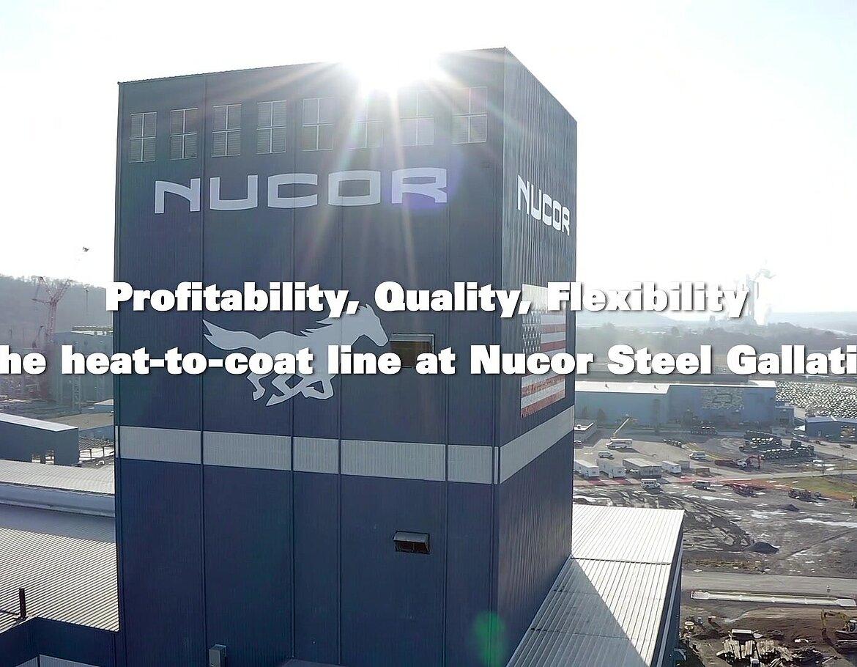 The heat-to-coat line at Nucor Steel Gallatin